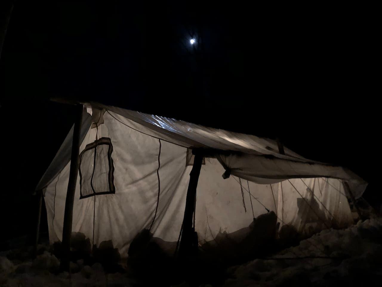 Summer Camp at night near Meeker Colorado